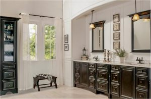 bathroom-cabinets-in-roswell-ga-black-shiny-vanity