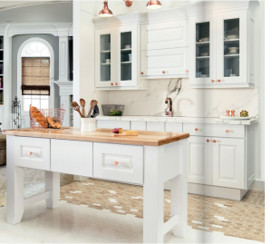 white-kitchen-cabinets-island-Roswell-ga
